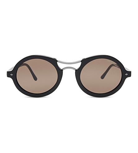 GIORGIO ARMANI AR8O72 Frames of Life round-frame sunglasses (Black