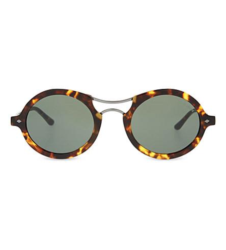 GIORGIO ARMANI Ar8072 round-frame sunglasses (Havana