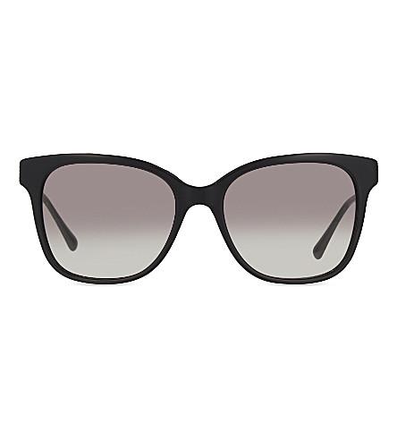 GIORGIO ARMANI Ar8074 contrast arm square-frame sunglasses (Black