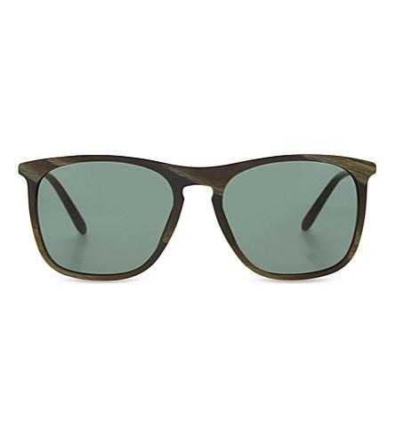 GIORGIO ARMANI Ar8076 printed square-frame sunglasses (Green