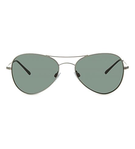 GIORGIO ARMANI Ar6035 metal aviator sunglasses (Gunmetal