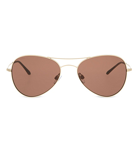 GIORGIO ARMANI Ar6035 gold-toned aviator sunglasses (Gold
