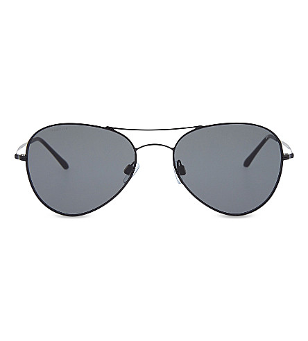 GIORGIO ARMANI AR6035 aviator sunglasses (Black