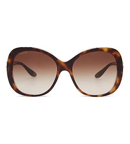 BVLGARI BV8171B Giardini Italiani round-frame sunglasses (Havana