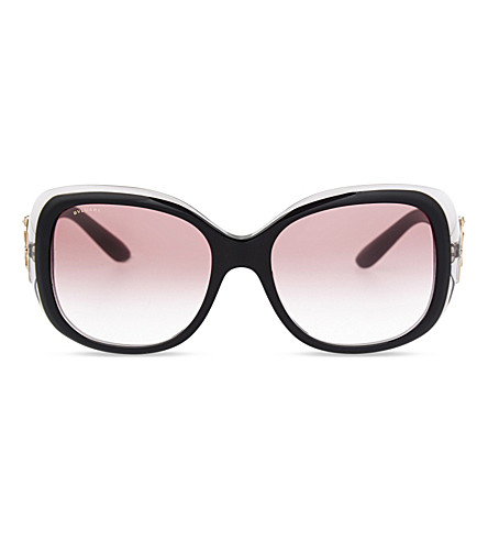 BVLGARI BV8172B Giardini Italiani round-frame sunglasses (Black