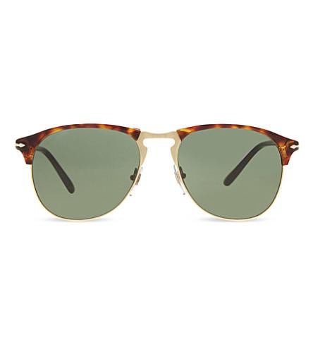 PERSOL Po8649s Havana pilot sunglasses (Havana