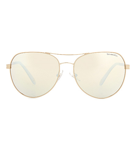 TIFFANY & CO TF3051b aviator sunglasses (Bronze