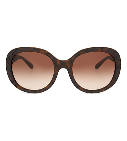 BURBERRY BE4218 Regent round-frame sunglasses (Havana
