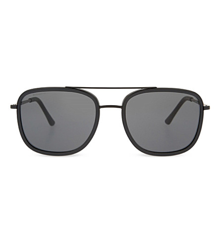 BURBERRY BE3085Q Sartorial square-frame sunglasses (Black