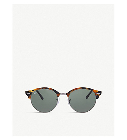 RAY-BAN RB4246 Clubround 太阳镜 (黑色