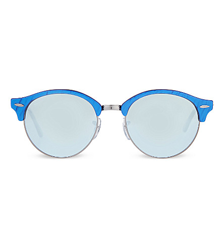 RAY-BAN RB4246 Clubround phantos 太阳镜 (蓝色
