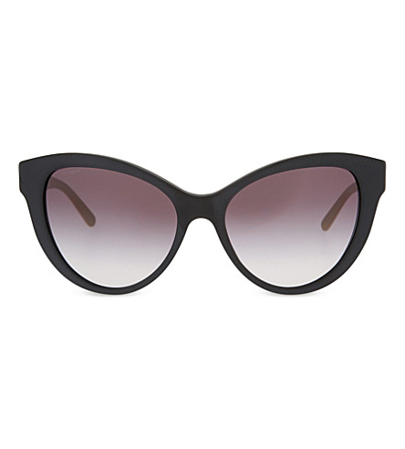 BURBERRY BE4220 Regent cat-eye sunglasses (Black