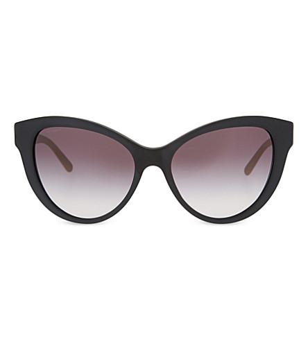 BURBERRY BE4220 丽晶猫眼太阳镜 (黑色