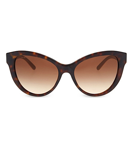 BURBERRY Be4220 tortoiseshell butterfly-frame sunglasses (Havana