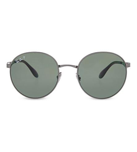 RAY-BAN RB3537 Phantos round sunglasses (Gunmetal