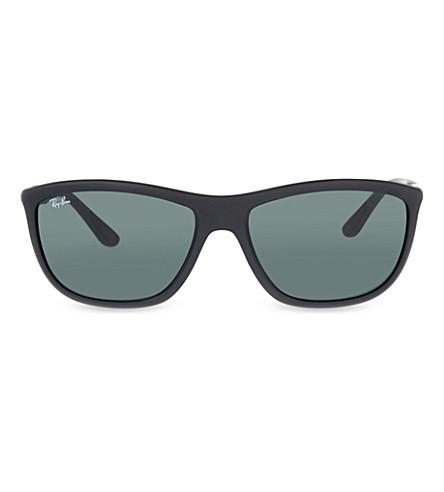 RAY-BAN Rb8351 方框太阳镜 (哑光 + 黑色