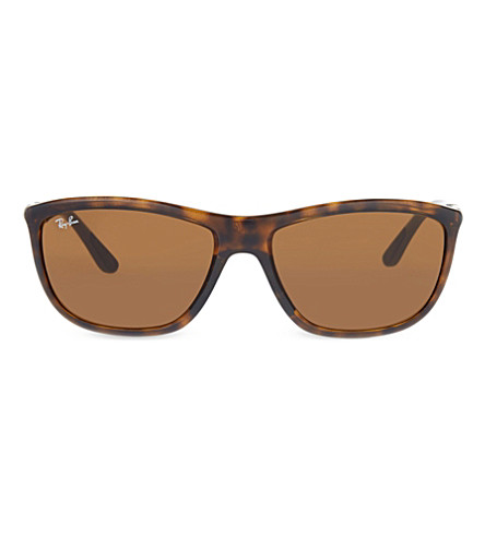 RAY-BAN RB8351 square-frame sunglasses (Shiny+havana
