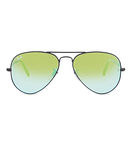 RAY-BAN RB3025 Aviator sunglasses (Shiny+black