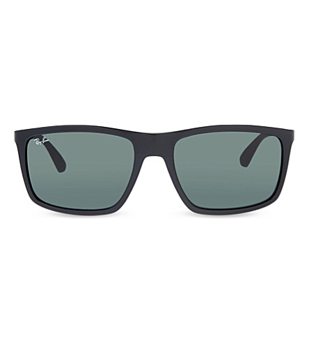 RAY-BAN RB4228 square sunglasses (Shiny+black