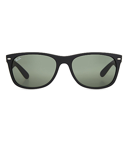 RAY-BAN RB2132 New Wayfarer sunglasses (Black+rubber