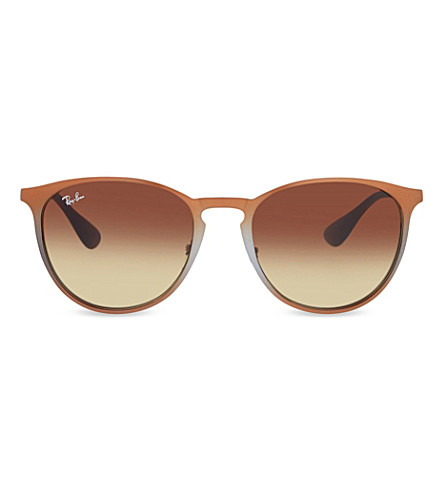 RAY-BAN RB3539 round phantos sunglasses (Brown+metallic
