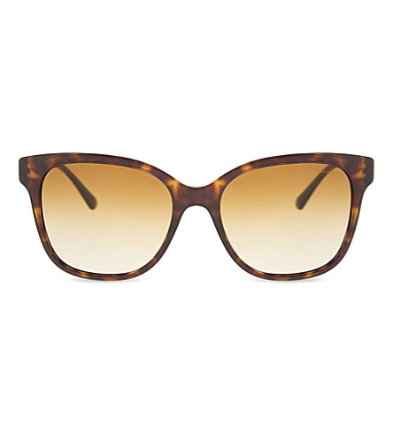 GIORGIO ARMANI Ar8074 tortoiseshell square-frame sunglasses (Havana
