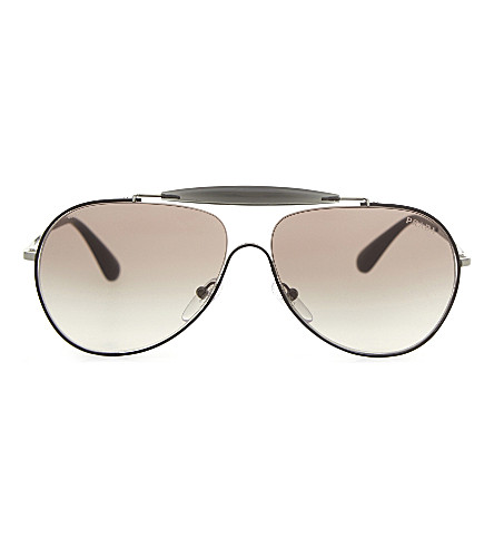 PRADA PR56SS Special Collection aviator sunglasses (Black