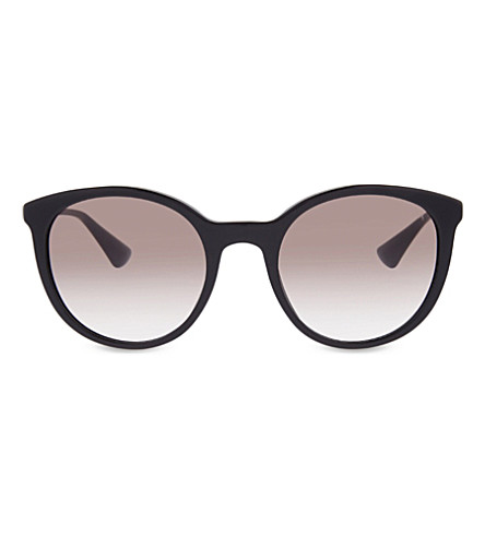 PRADA PR17SS Cinema Phantos round-frame sunglasses (Black