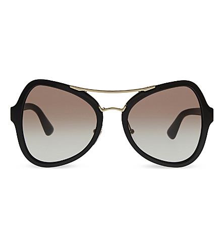 PRADA PR18SS butterfly-frame sunglasses (Black