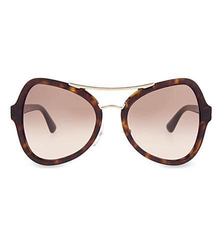 PRADA PR18SS Havana butterfly-frame sunglasses (Havana