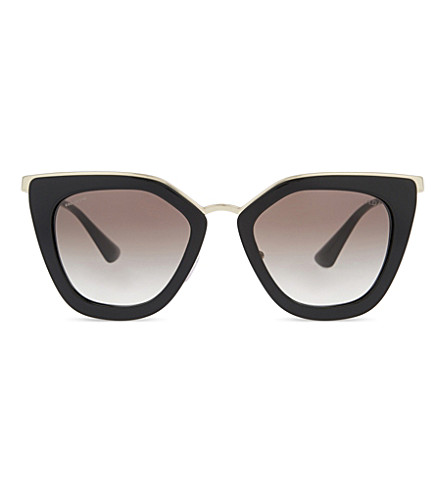 PRADA PR53SS Cinéma cat eye-frame sunglasses (Black
