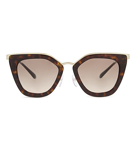 PRADA PR53SS Havana cat eye-frame sunglasses (Havana