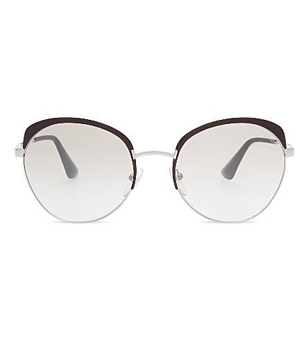 PRADA PR54SS Bordeaux round-frame sunglasses (Bordeaux