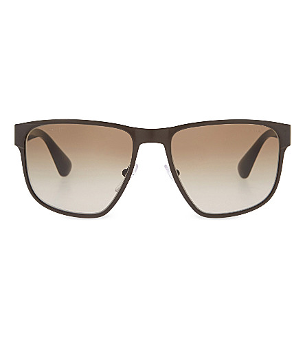 PRADA Pr55s square-frame sunglasses (Brown
