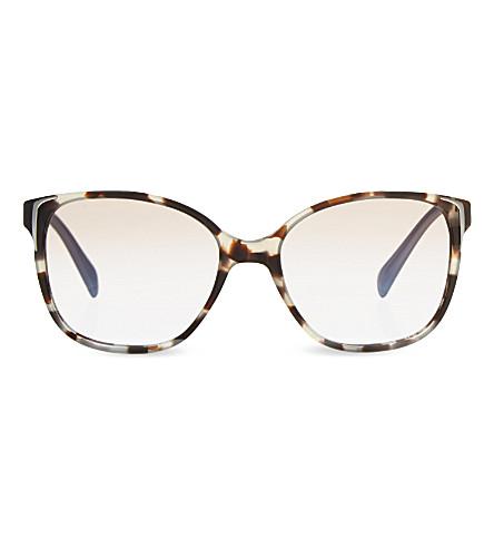 PRADA PR01OS tortoiseshell square-frame sunglasses (Brown