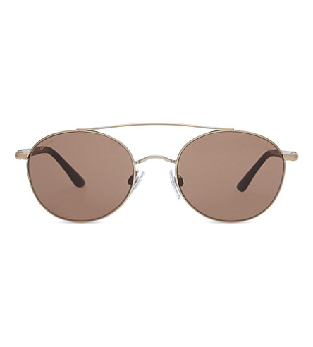 GIORGIO ARMANI AR6038 Frames of Life round-frame sunglasses (Bronze