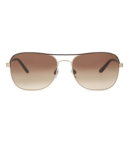 GIORGIO ARMANI AR6040 Aviator sunglasses (Matte+brown