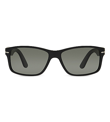 PERSOL PO3154S Rectangle-frame sunglasses (Black