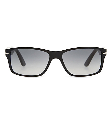 PERSOL PO3154S rectangle frame sunglasses (Black