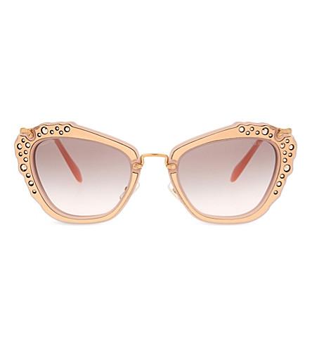 MIU MIU MU04QS Noir cat-eye sunglasses (Pink
