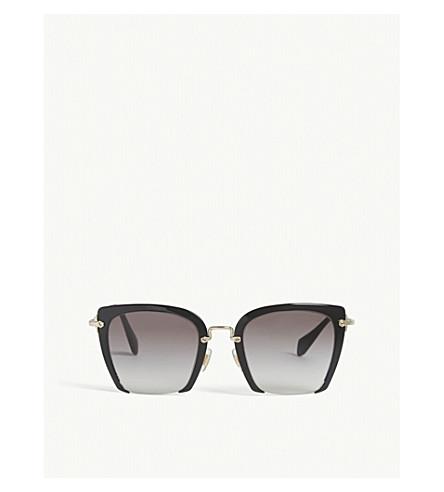 MIU MIU MU52RS Rasoir square-frame sunglasses (Black