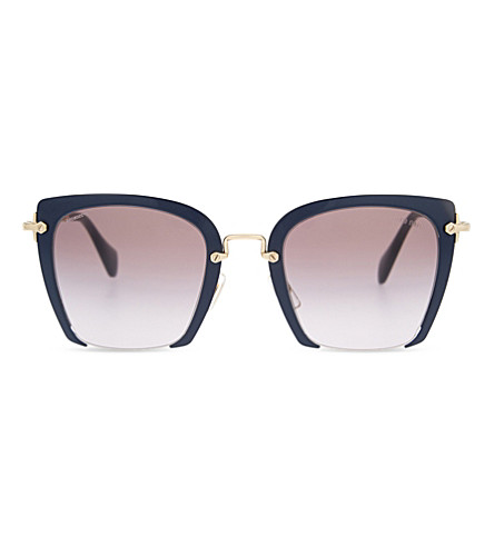 MIU MIU MU52RS Rasoir square-frame sunglasses (Blue