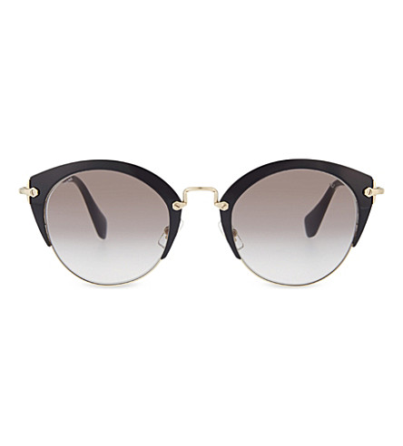 MIU MIU Phantos 53rs cat-eye frame sunglasses (Black