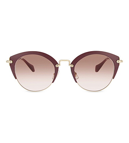 MIU MIU Bordeaux phantos 53rs cat-eye frame sunglasses (Bordeaux
