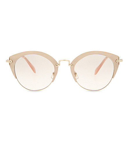 MIU MIU MU53RS Phantos Noir cat-eye sunglasses (Pink