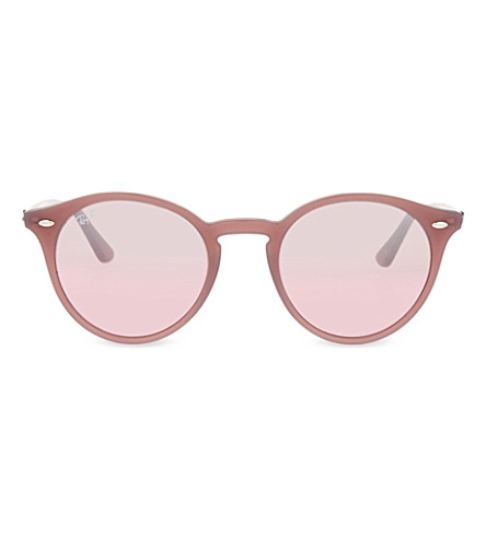 RAY-BAN RB2180 round phantos sunglasses (Opal+antique+pink