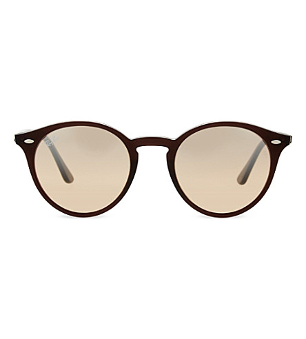 RAY-BAN RB2180 round-frame sunglasses (Opal brown