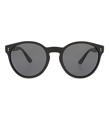 BURBERRY BE4221 round-frame sunglasses (Black