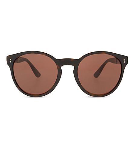 BURBERRY BE4221 Havana round-frame sunglasses (Havana
