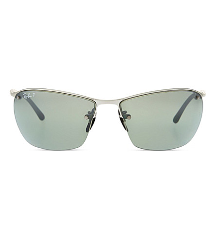 RAY-BAN Rb3544 chromance rectangle-shape sunglasses (Shiny+silver